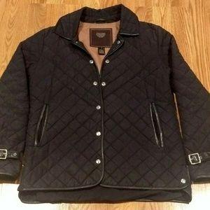 Coach Leatherware  Black Button Jacket